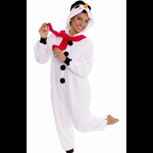 Holiday Snowman Fleece Onesie